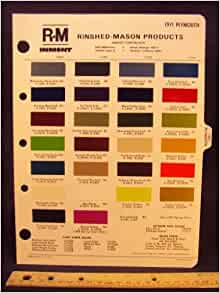 1971 PLYMOUTH Paint Colors Chip Page: Chrysler Cororation ...