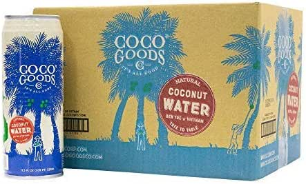 CocoGoods Co. Vietnam Single-Origin 100% Natural Coconut Water, Non-GMO, Never from Concentrate (17.5 fl. oz, 12 pack)