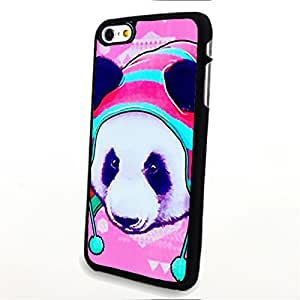 apply Phone Accessories Matte Hard Plastic Phone Cases Cartoon Animal Kawaii Panda with Hat fit For Apple Iphone 5/5S Case Cover