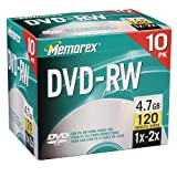 Memorex 4.7GB 2x DVD-RW Media (10-Pack)