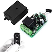 Wireless Remote Switch ,12 V 1 Channel Rf Relay Transmitter and Receiver momentary switch with Battery (1CH)