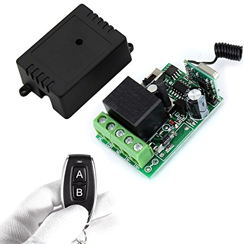 Wireless Remote Switch ,12 V 1 Channel Rf Relay Transmitter and Receiver momentary switch with Battery - Outlet Plaza