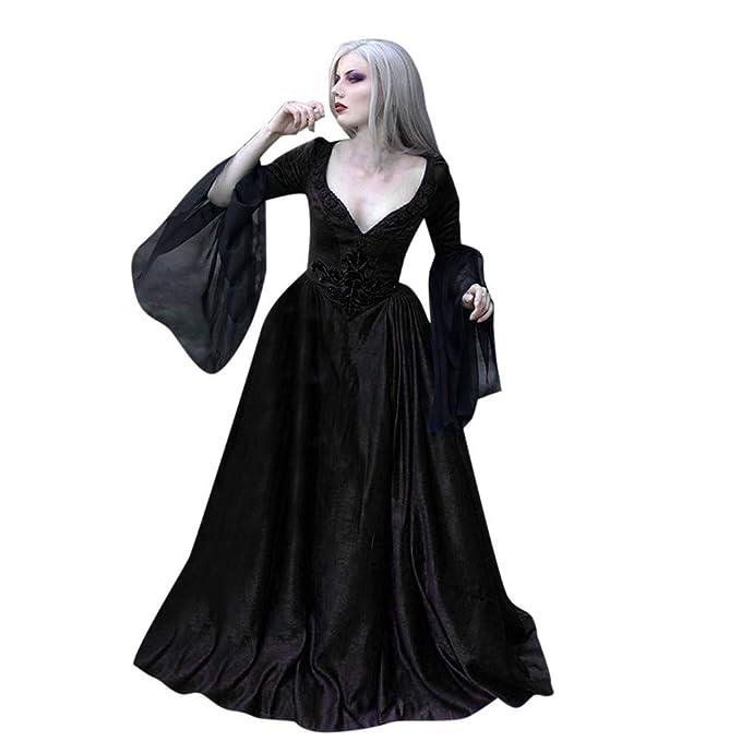 ESAILQ-Traje de vacaciones Mujeres Halloween Tie-Dye Cloak ...