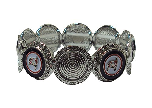 Pro Specialties Group NFL Tampa Bay Buccaneers Stretch Logo Bracelet