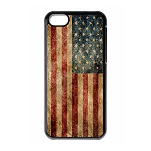 Retro American Flag ZLB526538 Custom Case for Iphone 5C, Iphone 5C Case by Maris's Diary