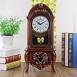 Living room floor clock modern resin mute clock imitation wood clock
