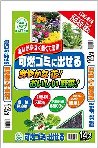 粂谷商店(Kumeyashoten) 培養土 HB-101 可燃ゴミに出せる 花・野菜用 14L