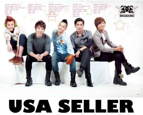 Bigbang horiz biodata Poster Big Bang T.O.P. Top G-Dragon Tae Yang Korean boy band