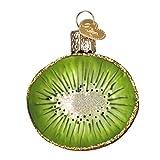 Old World Christmas 28115 Kiwi Glass Blow Christmas Ornament Kiwi