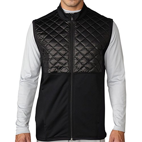 Adidas Mens Climaheat Prime Quilted Full Zip Vest Black/Black Xl