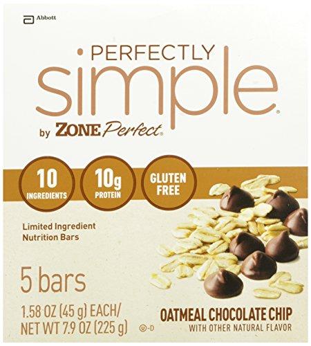 ZonePerfect barres de nutrition parfaitement simple, Oatmeal Chocolate Chip, 1,58 once, 20 comte