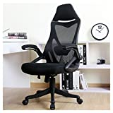 BERLMAN Ergonomic High Back Mesh Office Chair with Adjustable Armrest Lumbar Support Headrest Swivel Task Desk Chair Computer Chair Guest Chairs Reception Chairs (Black)