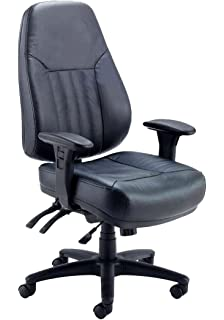 Office Hippo Hour High Back Office Chair With Arms Leather
