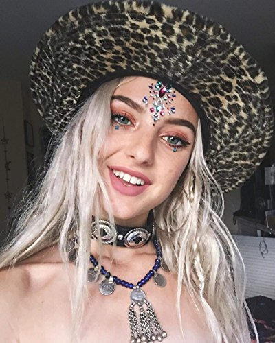 Face Jewels Glitter Temporary Tattoo With Tweezers Tool,6 Sets Body Rhinestone Jewelry Stickers Crystal Mermaid Eyes Tears Gems Stones For Festival Party Women by TTSAM (Image #4)