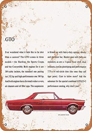 - Jacksoney Tin Sign New Aluminum 1965 Pontiac GTO 11.8 x 7.8 Inch