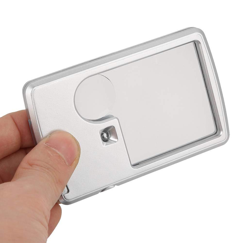 Tascabile e Quadrata Lente dIngrandimento Portatile Lente 3X 6X koulate Lente di ingrandimento per Carta di Credito Lente Ottica con Luce LED