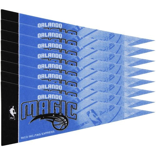 NBA Magic 8 Pc Mini Pennant Pack Sports Fan Home Decor, Multicolor, One Size - Orlando Magic Mini Basketball