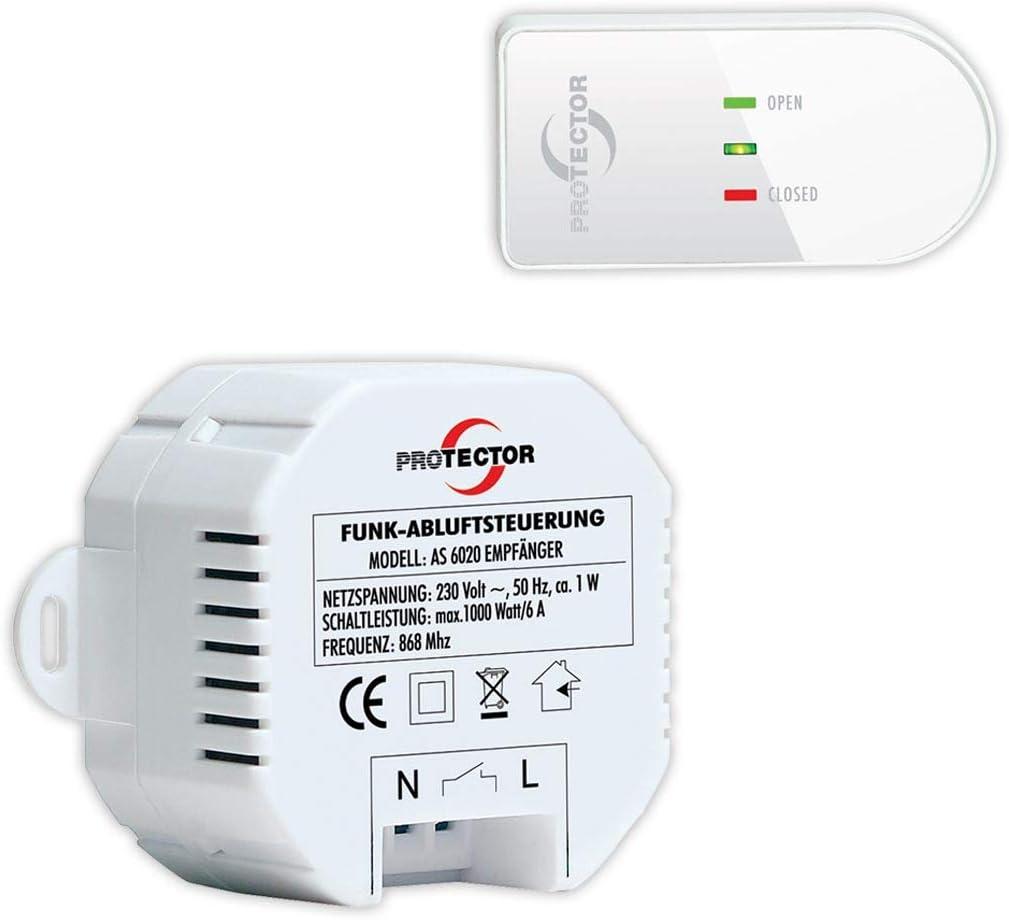 Luftdruckwächter / Abluftsteuerung Funk Protector AS-6020.3 Einbau: Amazon.es: Bricolaje y herramientas