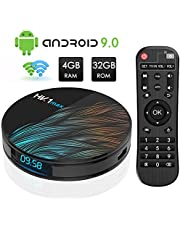 Android TV Box, HK1 Max RK3318 Quad-Core Android 9.0 TV Box 4GB RAM/32GB ROM Support 2.4Ghz/5.0 Ghz WiFi Bluetooth 4.0, 4K HDMI DLNA 3D Smart TV Box