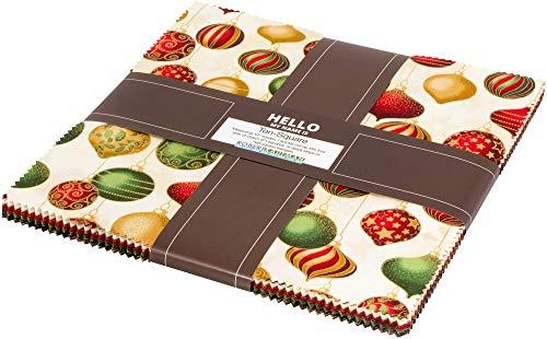 - Winter's Grandeur 7 Holiday Ten Square 42 10-inch Squares Layer Cake Robert Kaufman TEN-680-42