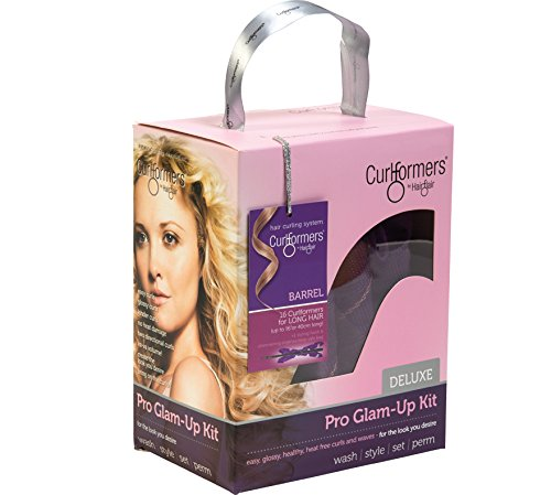 curlformers hair curlers deluxe range barrel curls glam up kit 16 hair curlers and 1 styling. Black Bedroom Furniture Sets. Home Design Ideas