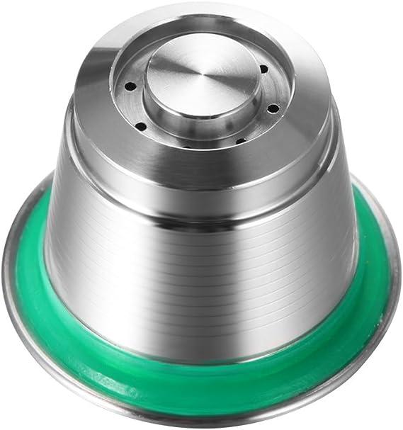 TiooDre Tazza di capsule di caff/è nuova capsula riutilizzabile in metallo in acciaio inossidabile riutilizzabile riutilizzabile per macchina da caff/è Nespresso