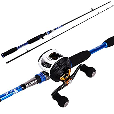 Sougayilang Baitcasting Rod Reel Combos MH Graphite Casting Rod with 11BB Baitcast Fishing Reel Kit from Sougayilang