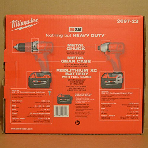 Milwaukee Tool 2697-22 Cordless Lithium-Ion 2-Tool Combo Kit