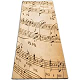 EJudge Yoga Mat Music Notes Pictures Personalized 1/4-Inch Thick Sports Mats for Pilates, Fitness & Workout