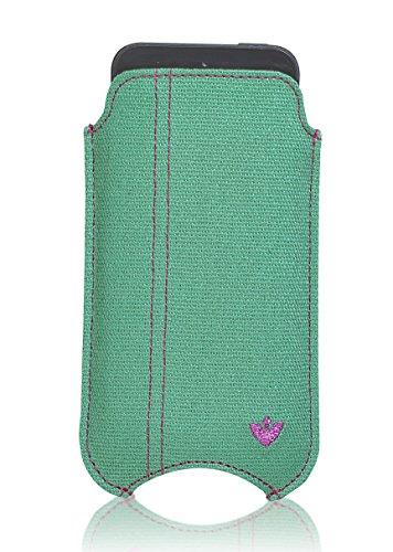 NueVue Housse en tissu pour iPhone 4/4S-Aqua/Vert