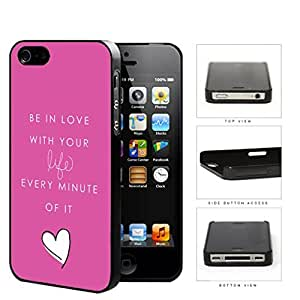 Girly Love Your Life Quote With Pink Background Hard Plastic Snap On Cell Phone Case Apple iPhone 4 4s