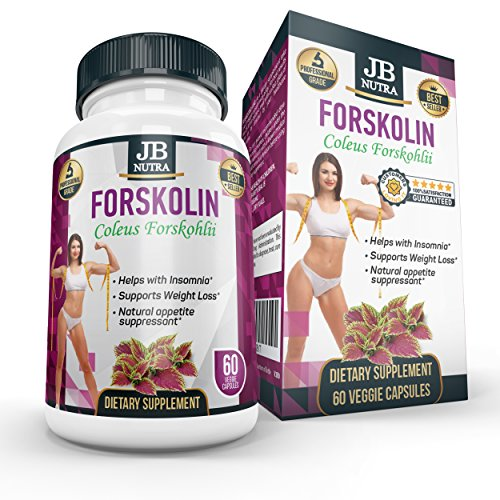 Forskolin Weight Loss Supplement | Leading Appetite Suppressant Fat Burning Metabolism Booster Diet Pills That Work Fast for Women & Men | Helps with Insomnia | 60 Natural Diet Pills That Work. Review
