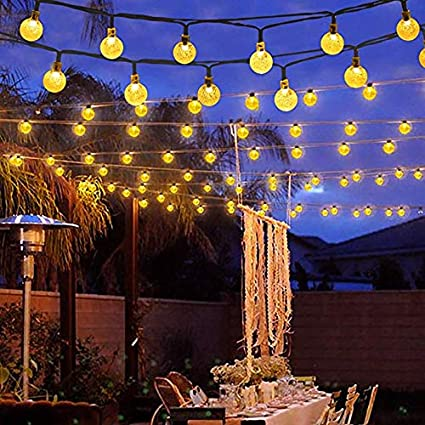 save off 2b740 57cfd Binval Solar String Lights for Outdoor Patio Lawn Landscape Garden Home  Wedding Holiday Decorations[19.7feet - 6m - 30LED-Warm White 2-Pack]