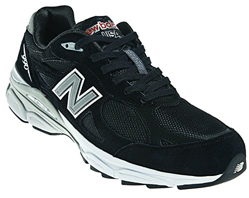 New Balance Men's M990BK3 Running Shoe,Black,11 D US