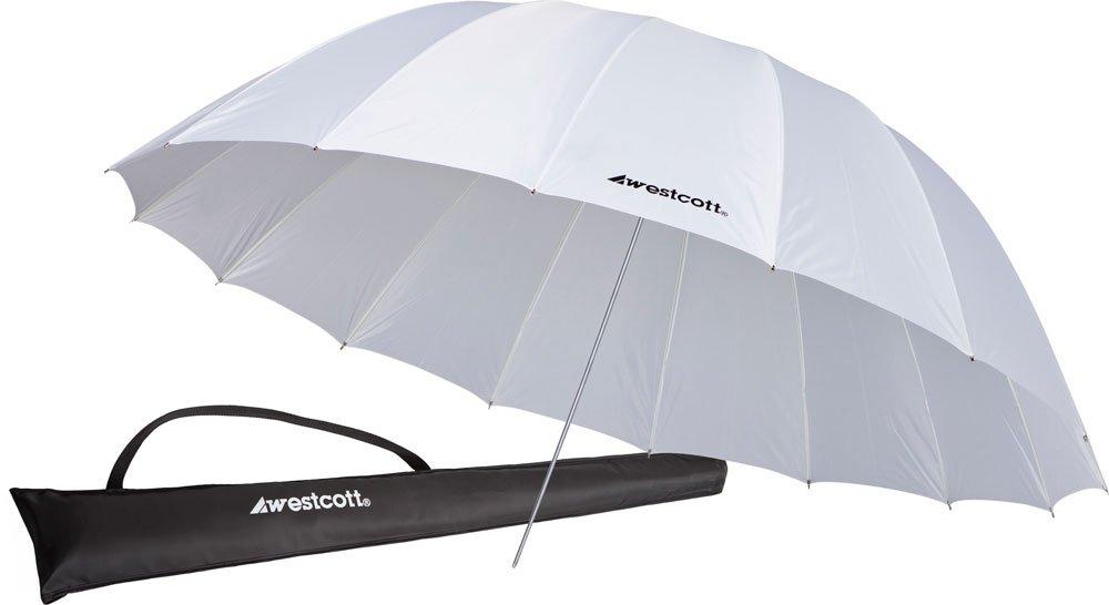 Westcott 4632 7 Feet White Diffusion Parabolic Umbrella by Westcott