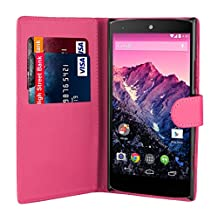 32nd Book wallet PU leather case cover for Huawei Nexus 6P (2015) - Hot Pink
