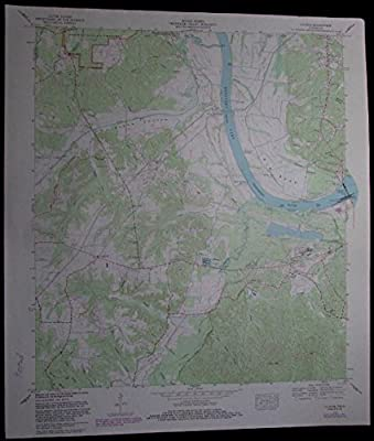 Counce Tennessee Kentucky Lake Tennessee River vintage 1985 old USGS Topo chart