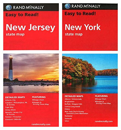 - Rand McNally State Maps: New Jersey and New York (2 Maps)