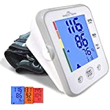 Easy@Home Digital Upper Arm Blood Pressure Monitor with Hypertension Color Alert Technology
