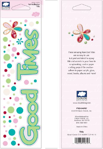 - Fiskars 01-003099 Cloud 9 Design Alyssa's Garden Collection Title Rain Dots Epoxy Stickers