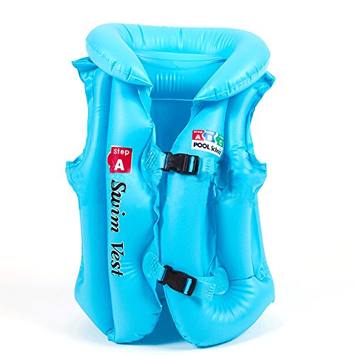 Black Kids Life Vest (Child Inflatable Swim Vest , Kids' Life Jacket in the Swimming Pool (M))