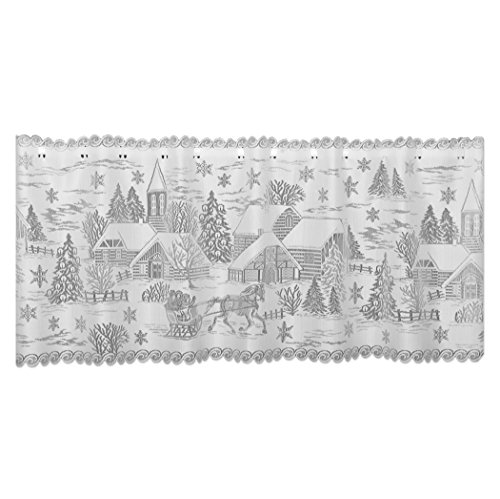 """Heritage Lace Sleigh Ride 60"""" X 20"""" White 4-Way Mantle Scarf"""