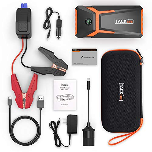TACKLIFE Starter 18000mAh, Booster Portable Power Pack Cables, Screen & Compass