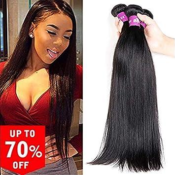 Hebe Brazilian Straight Hair 3 Bundles 10 12 14inch 300g Grade 10a Virgin Straight Human Hair Bundles