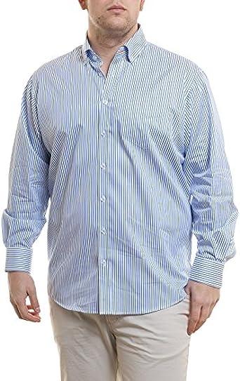 Camisa Jupiter blanca de rayas azul blanco XL: Amazon.es ...