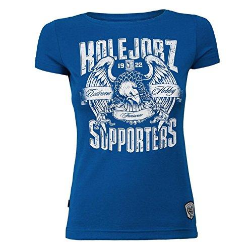 Extreme Hobby Fanswear T-shirt. KKS Lech Poznan T-shirt. Kolejorz Supporters. Women Fanswear. Kolejorz. Polish Football Supporters. Hooligan. Polonaise de Football