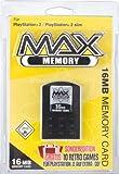 Datel Max Memory - Flash memory module - 16 MB - Sony PlayStation 2 Memory Card - black