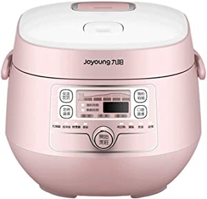 Joyoung Smart Rice Cooker JYF-20FS987M -Mini Multi-use with Timer for Cooking, Soups, Stew, 2L,Pink
