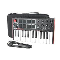 co2CREA Hard Case for Akai MPK Mini MKII MIDI Drum Pad/Keyboard Controller