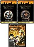 Mystery Original Detective Sherlock Holmes Triple Set Adventures Sir Arthur Conan's Doyle's Case Terror By Night / Dressed to Kill / Secret Weapon Classics 3 DVD Pack